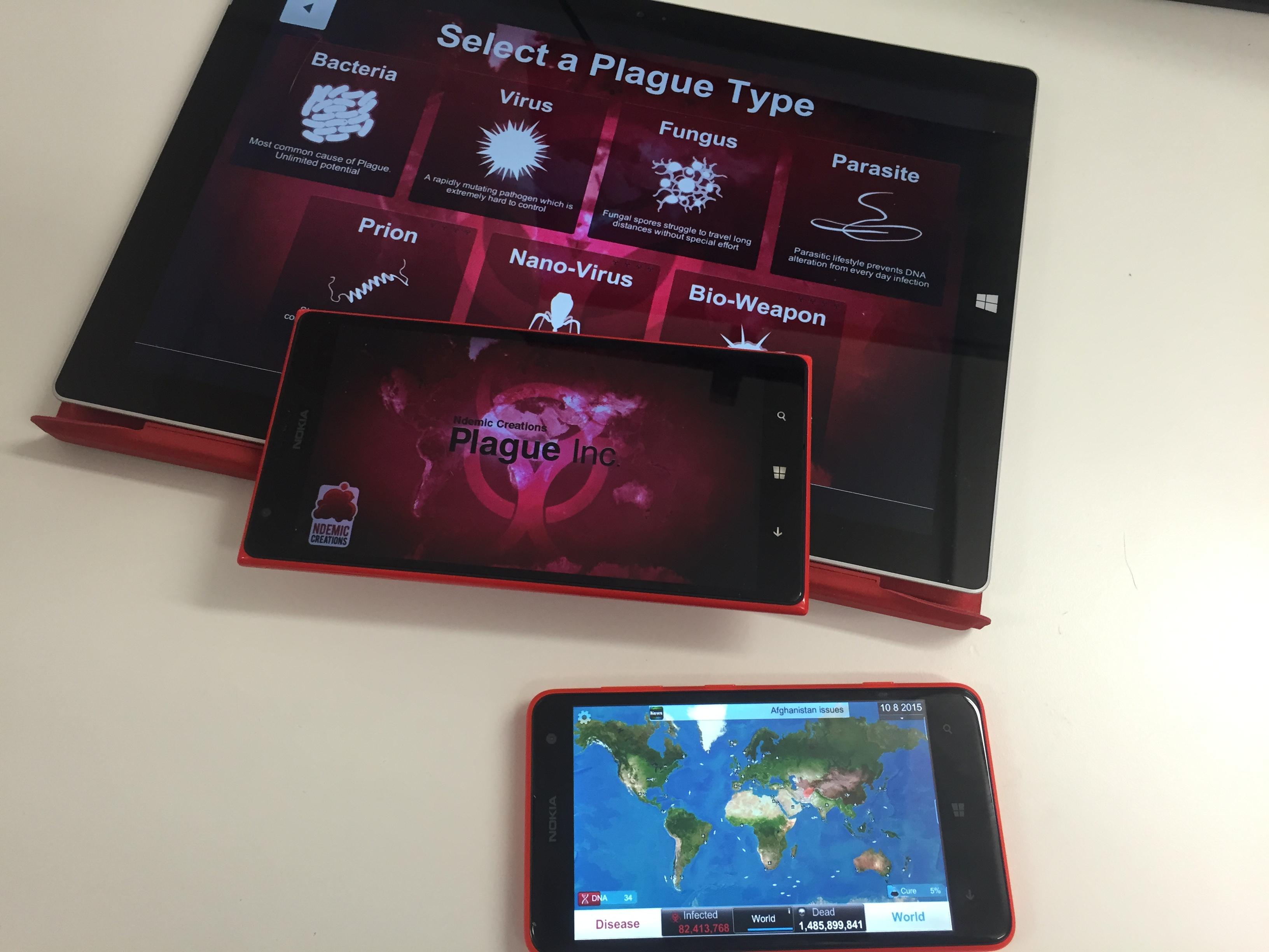 Plague inc для windows 10 mobile и windows phone.