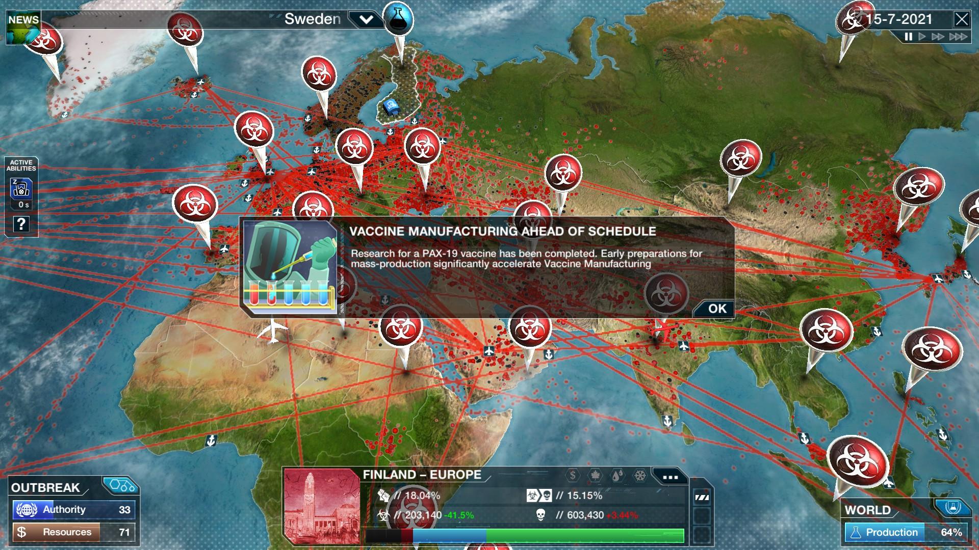 Plague Inc: The Cure PC screenshot