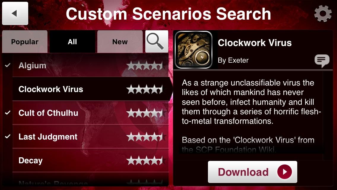 plague inc custom scenarios download free